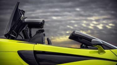 McLaren 600LT Spider convertible door