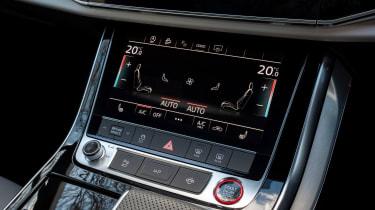 Audi SQ7 SUV lower screen