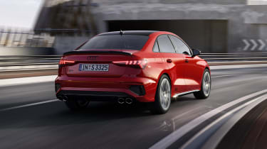 2020 Audi S3 Saloon driving - rear view
