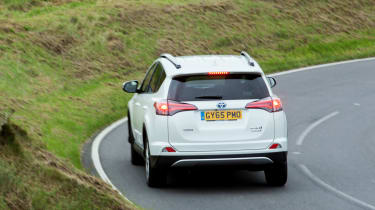 The hybrid RAV4 is available in two or four-wheel drive with automatic transmission