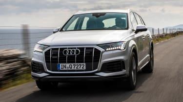 Audi Q7 SUV front driving