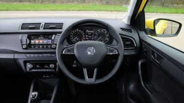 The dashboard is modern and nicely laid-out, if a little dull