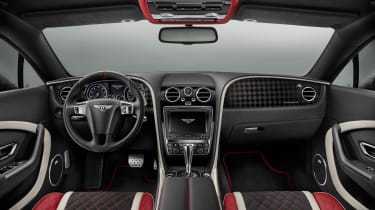 The steering wheel comes with a racing-inspired centre stripe