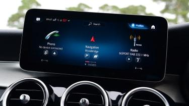 Mercedes GLC SUV infotainment menus