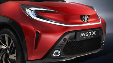 Toyota Aygo X Prologue front end detail