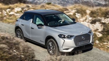 DS 3 Crossback E-Tense pre-production front action