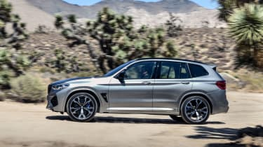BMW X3 M Competition SUV side off-road