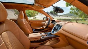 Aston Martin DBX interior - side view