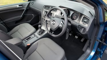 Front-seat occupants have plenty of room and there's lots of adjustment in the seat and steering wheel