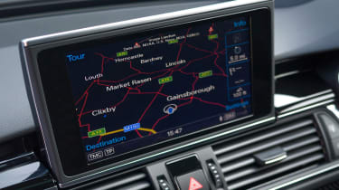 The RS7 is a cut above most sports cars inside, with a widescreen infotainment display