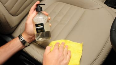 Leather seat cleaning