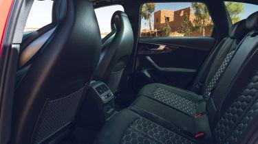 Audi RS4 Avant estate rear seats