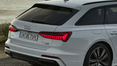 Audi A6 Avant plug-in hybrid rear end detail