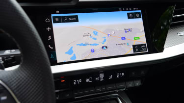 Audi A3 saloon infotainment display