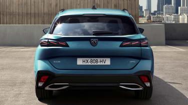 2021 Peugeot 308 SW estate - rear view