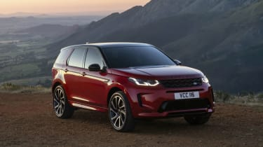 Land Rover Discovery Sport SUV front 3/4 static
