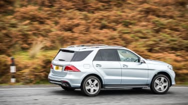 The V6 petrol engine is quiet at cruising speeds, and makes a pleasant sound when you accelerate