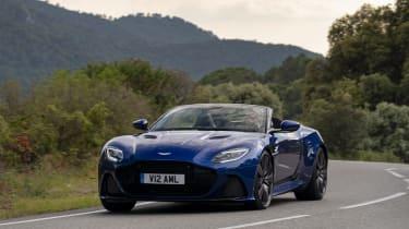Aston Martin DBS Superleggera Volante front cornering