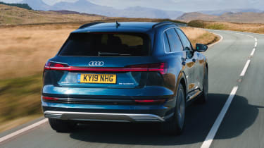 Audi e-tron SUV rear 3/4 tracking