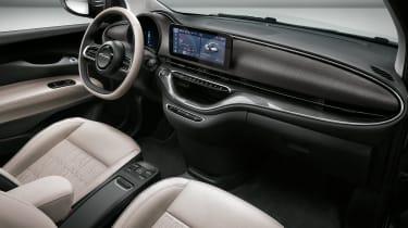 2020 Fiat 500 electric convertible - interior 3/4 angle