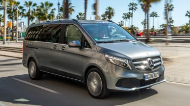 Mercedes V-Class MPV front 3/4 tracking
