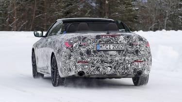 BMW 4 Series Convertible winter testing - rear view