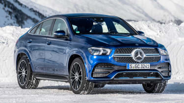 Mercedes GLE Coupe SUV front 3/4 static