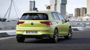 2020 Volkswagen Golf R-Line driving - rear view