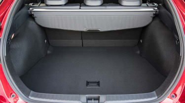 The Prius has a reasonable boot, measuring 363-litres up to the parcel shelf, although it is quite shallow