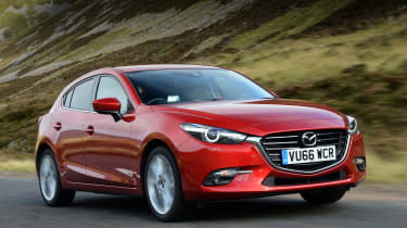 The Mazda3 is one of the best cars to drive on this list, striking a great balance between comfort and handling.