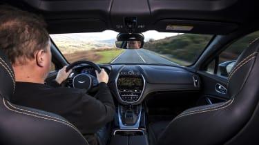 Steve Fowler driving the Aston Martin DBX prototype