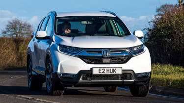 honda cr-v hybrid suv action cornering