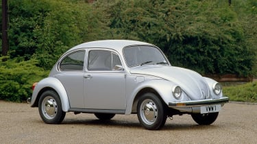 "The original ""people's car"", the Volkswagen Beetle started out in Germany but was later built all over the world"