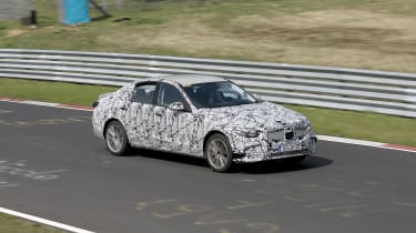 2021 Mercedes C-Class testing at the Nurburgring - side passing