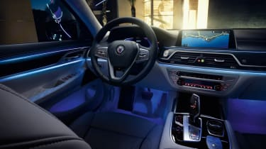 Alpina B7 interior at night