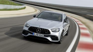 Mercedes-AMG E63 saloon driving