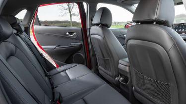 Hyundai Kona Hybrid SUV rear seats