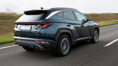 Hyundai Tucson SUV rear 3/4 tracking
