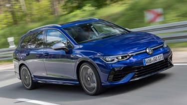 2021 Volkswagen Golf R Estate - front 3/4 moving