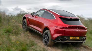 Aston Martin DBX SUV rear hill climb