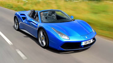 Ferrari 488 Spider convertible front tracking