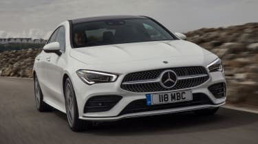 Mercedes CLA saloon front 3/4 tracking