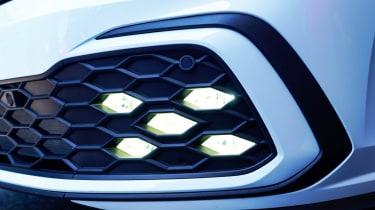 Volkswagen Golf GTI hatchback daytime running lights