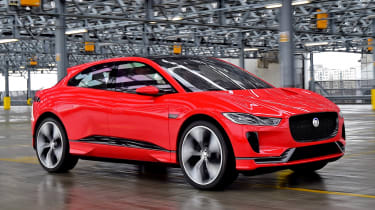 The Jaguar I-Pace concept's front end styling is one of its most distinctive features...