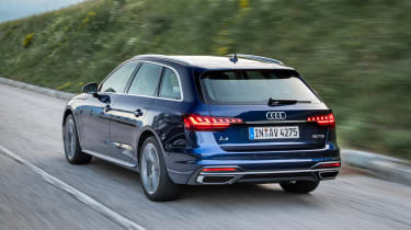Audi A4 Avant estate rear 3/4 tracking