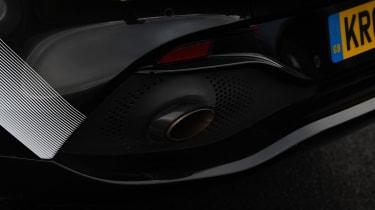 Aston Martin DBX prototype exhaust