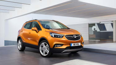 The Mokka X has a wider but shallower front grille, and more agressive, angular headlight clusters than the current Mokka.