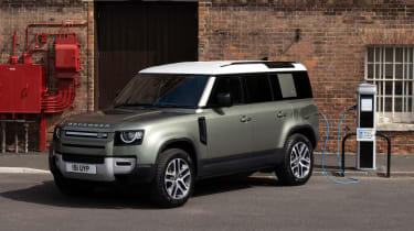 2020 Land Rover Defender 110 P400e plug-in hybrid - 3/4 view static