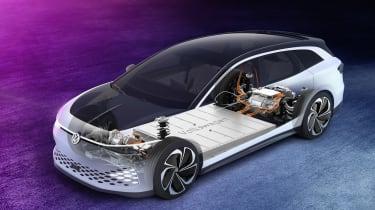 Volkswagen ID. Space Vizzion concept powertrain graphic