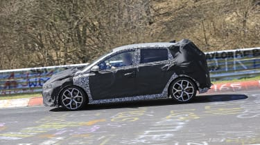 Hyundai i20 N development car - Nurburgring - passing view